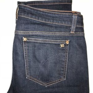 Joe's midrise straight dark wash jean
